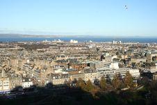 Beautiful View From Edinburgh Castle Parapet Stock Photos