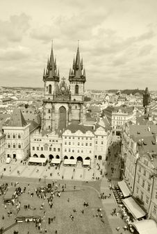 Free Old Town Square In Prague Royalty Free Stock Photography - 14936187
