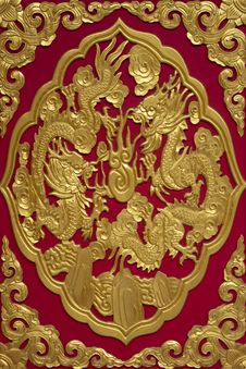 Twin Dragon Of Chinese Royalty Free Stock Photo