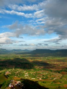 Free Dark Indian Landscape With Beautiful Clouds Stock Photography - 14936742