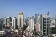 Free City View Of Shanghai Royalty Free Stock Image - 14936746