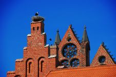 Free Stork Nest, Gothic Architecture, Germany Stock Images - 14937054