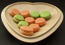 Free Macarons Love Heart Royalty Free Stock Images - 14937809