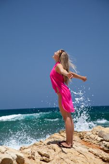 Free Woman On Exotic Beach Stock Photo - 14937830