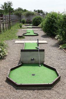 Mini Golf Area Stock Photo