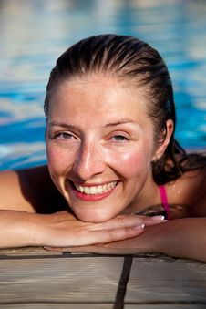 Free Woman In Pool Royalty Free Stock Image - 14938356