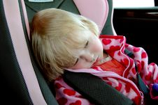 Free A Sad Little Girl Sitting In A Car Seat Royalty Free Stock Photography - 14938827