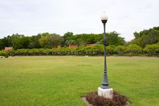 Free Lamp On The Yard In The Park Stock Images - 14939344