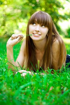 Free Beauty Girl In Park Stock Photography - 14939362