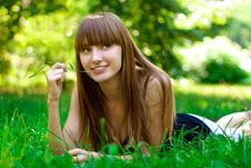 Free Beauty Girl In Park Stock Images - 14939374