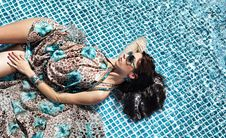 Free Young Woman At A Pool Stock Photo - 14939700