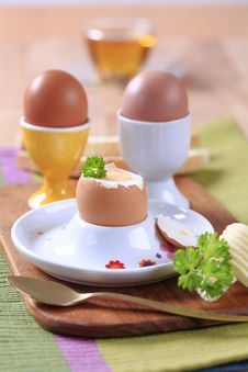 Free Boiled Eggs Royalty Free Stock Images - 14939829