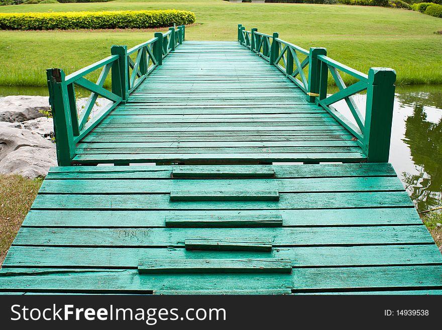 Bridge and the yard