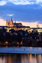 Free View On Prague Gothic Castle After Sunset Stock Images - 14947364