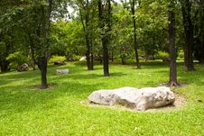 Free Stone In The Park Royalty Free Stock Photos - 14940018