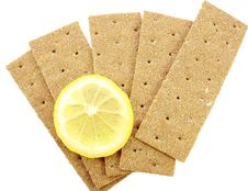 Crackling Bread And Lemon Stock Image