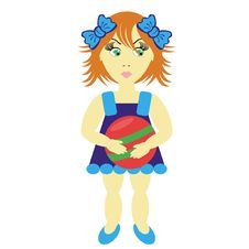 Free Girl With Ball Stock Photo - 14940430