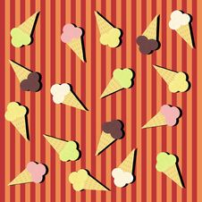 Free Background With Ice-creams Royalty Free Stock Photos - 14940618