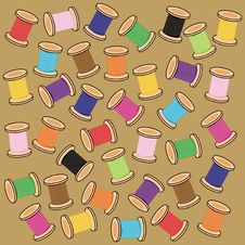 Free Background With Reels Of Thread Stock Photo - 14940650