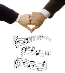 Free Musical Notes And Heart Stock Photo - 14941750