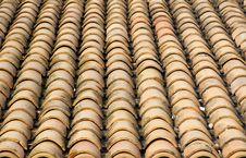 Terracotta Tiles Stock Photo