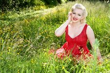 Free Woman In Summer Pasture Stock Image - 14942431