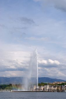 Switzerland, Geneva, View Of Lake Geneva Royalty Free Stock Photos