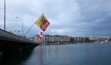 Switzerland, Geneva, View Of Lake Geneva Royalty Free Stock Images