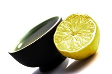 Free Cup Of Green Tea With Half A Lemmon. Stock Photos - 14943203
