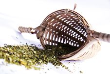 Free Green Tea With Bamboo Strainer Stock Images - 14943214