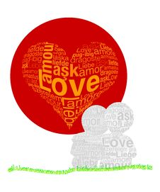Free Love In Any Language Stock Photos - 14943283