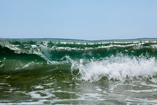 Free The Foamy Waves Of The Sea Royalty Free Stock Image - 14943436