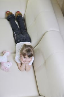 Free Happy Cute Little Girl Relax Royalty Free Stock Photography - 14944487