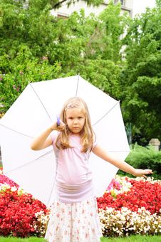 Free Girl In The Rain Stock Images - 14944694