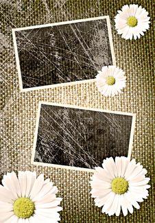Free Vintage Photo Frames Over Sack Background Stock Photography - 14944882