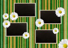 Free Vintage Photo Frames Over Striped Background Stock Photos - 14944963