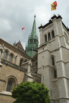 Free St. Peters Cathedral In Geneva, Switzerland Stock Photography - 14945062