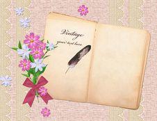 Free Vintage Book Over Grunge Sack Background Royalty Free Stock Photo - 14945315