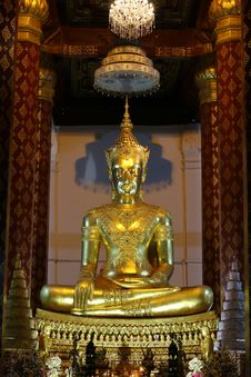 Free Golden Buddha  Ayutthaya Thailand Royalty Free Stock Images - 14945469