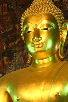 Golden Buddha Statue Sutat Temple Royalty Free Stock Photos
