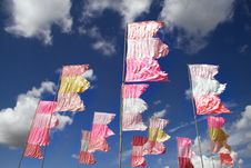 Free Fluttering Flags Royalty Free Stock Photography - 14946147