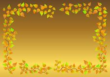 Free Autumn Leaf Frame. Vector. Royalty Free Stock Photo - 14946175