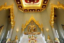 Free Pure Gold Buddha, Trimit Temple, Bangkok, Thailand Stock Images - 14946264