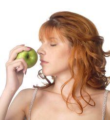 Free Woman Holding Apple Stock Photos - 14946393
