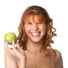 Free Woman Holding Apple Royalty Free Stock Image - 14946406