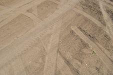 Free Traces On Sand Stock Image - 14947711