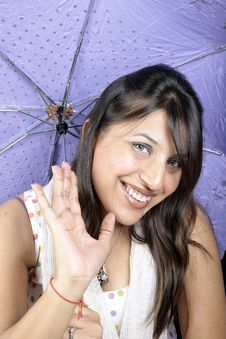 Free Umbrella Girl Stock Photography - 14947772