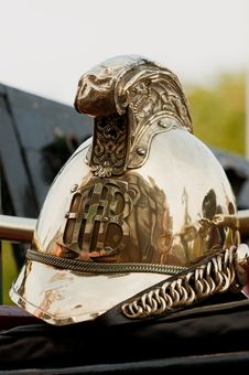 Free Old Brass Fire-brigade Helmet Stock Photo - 14948060