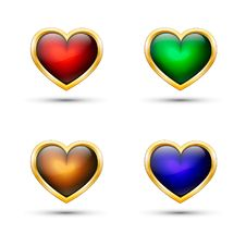 Vector Hearts. Royalty Free Stock Image