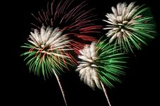 Free Green And White Fireworks Stock Photography - 14948122